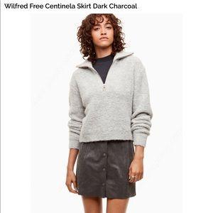 Wilfred free centinela skirt dark charcoal size 10